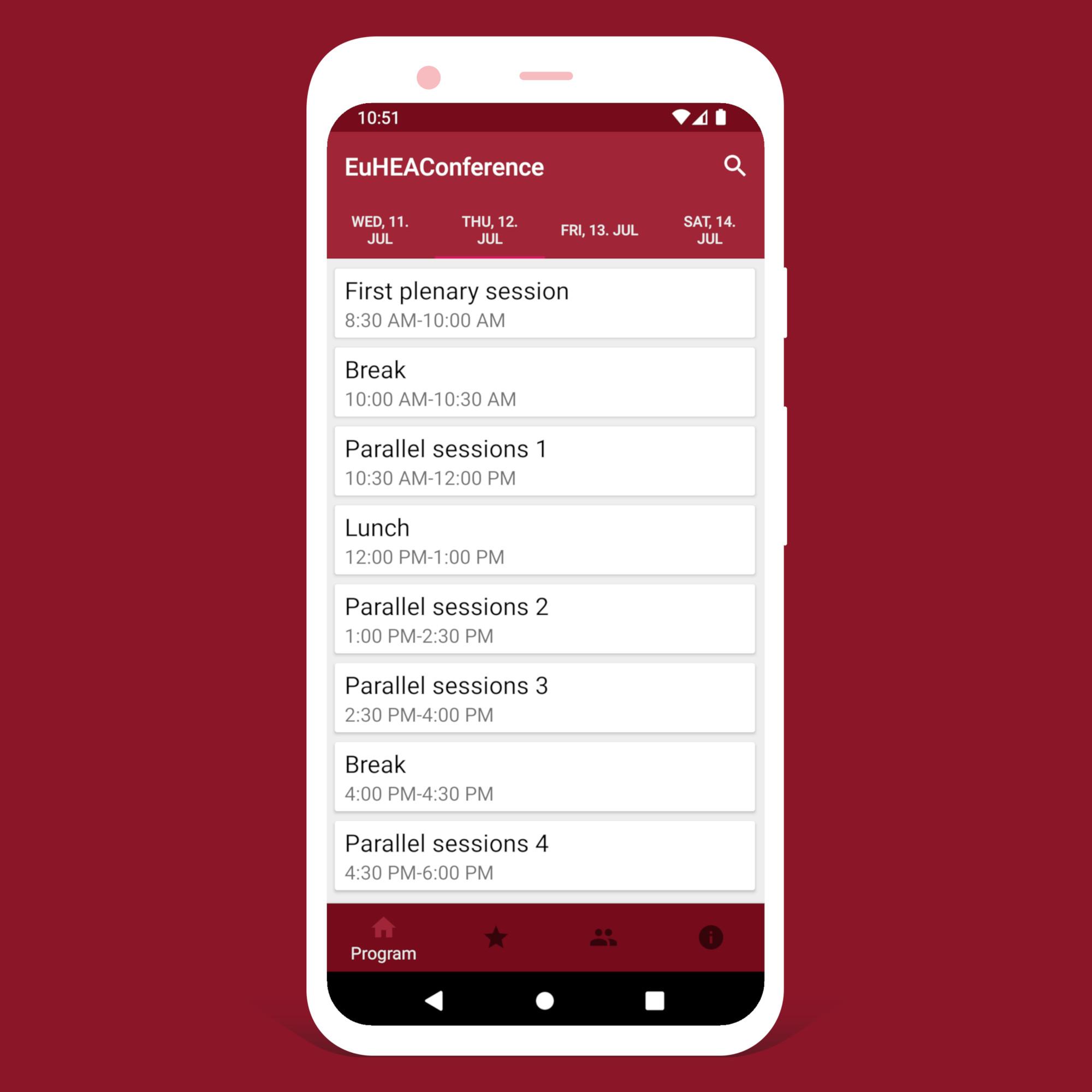 Mockup EuHEA App Android