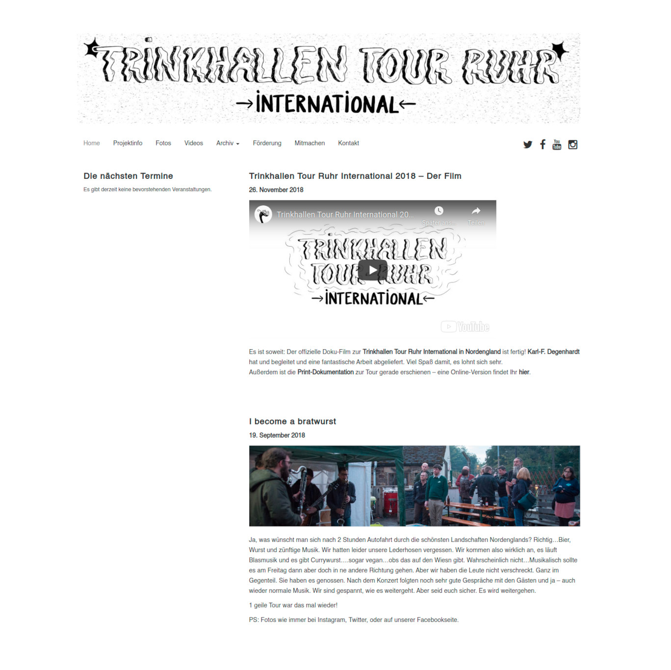 Website Trinkhallen Tour Ruhr